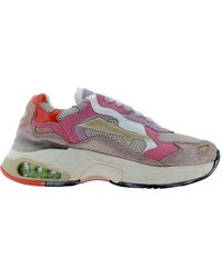 Premiata Women's Sharkyd81 Pink Other Materials Sneakers