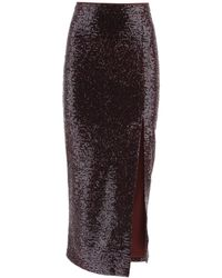 In the mood for love Tilo Sequined Skirt - Purple