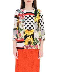 Dolce & Gabbana Dolce & Gabbana Patchwork Blouse - Multicolour