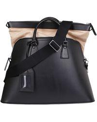 Maison Margiela Black Leather 5ac Tote Bag