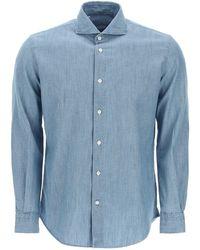 Vincenzo Di Ruggiero Cotton And Linen Shirt - Blue