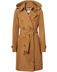 Burberry Kensington Trench Coat - Natural