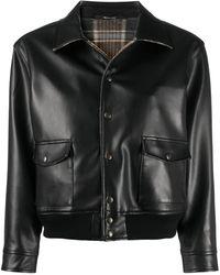 Maison Margiela Faux-leather Jacket - Black