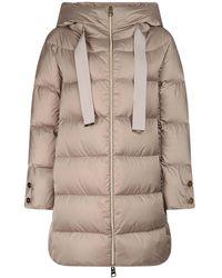 Herno Satin Padded Jacket - Natural