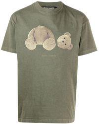 Palm Angels - Bear Graphic T-shirt Green - Lyst