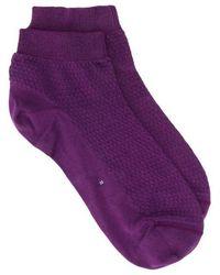 Miu Miu Textured Short Socks - Purple