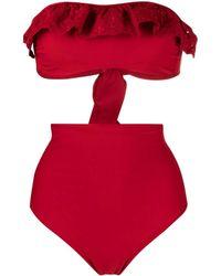P.A.R.O.S.H. Ruffle-detail Bikini Set - Red