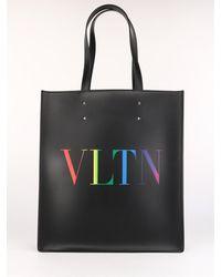 Valentino Vltn Tote Bag - Black