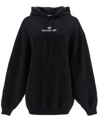 Balenciaga Hoodie Sponsor Logo - Black