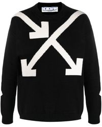 Off-White c/o Virgil Abloh Twisted Arrows Knitted Sweater - Black