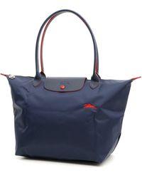 Longchamp Large Le Pliage Club Bag - Blue