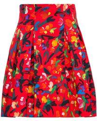Philosophy Di Lorenzo Serafini Cotton Skirt With Multicolour Printing - Red