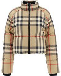 "Burberry ""vintage Check"" Down Jacket - Multicolor"