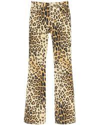 Etro Leopard Print Flared Jeans - Multicolour