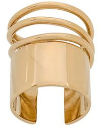 Balenciaga Round Cut Out Ring - Multicolour