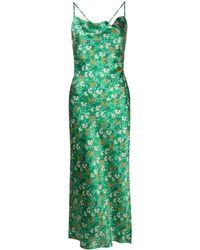 L'Autre Chose Floral-print Silk Slip Dress - Green