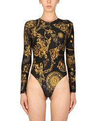 Versace Jeans Couture Bodycon With Bijoux Baroque Print - Black