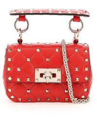Valentino Garavani Rockstud Spike Micro Bag - Red