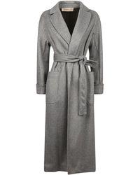 Blanca Vita Viscose Blend Coat - Grey