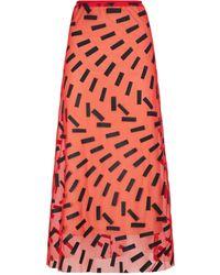 Maison Margiela Stretch Tulle Skirt - Red