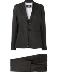 DSquared² Single-breasted Trouser Suit - Black