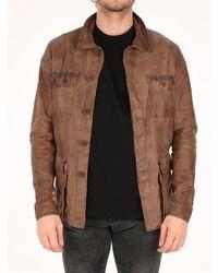 Salvatore Santoro Leather Jacket - Brown