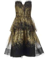 Marchesa notte Short Dress - Black