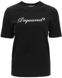 DSquared² Logo T-shirt Xs Cotton - Black