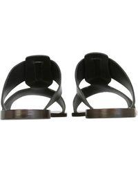 Lemaire Leather Sandals - Black