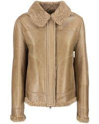 Brunello Cucinelli Jacket With Sheepskin Fur - Natural