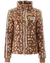 Burberry Deer Print Puffer Jacket - Brown