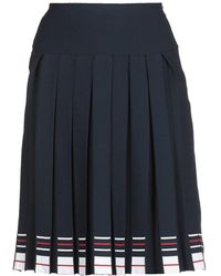 Thom Browne Striped Pleated Skirt - Blue
