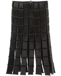 A.W.A.K.E. MODE Bonded Midi Skirt - Black