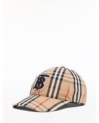 Burberry Check Baseball Cap - Multicolour