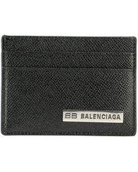 "Balenciaga ""plate"" Card Holder - Black"