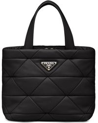Prada - System Quilted Tote Bag - Lyst