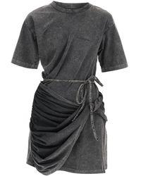 Y. Project Y Project T-shirt Mini Dress - Black