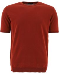 Roberto Collina Other Materials T-shirt - Red