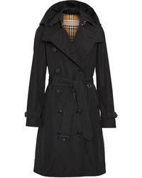 Burberry Detachable Hood Trench Coat - Black