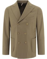 Biagio Santaniello Double-breasted Blazer With Six Buttons - Brown