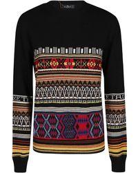 Etro Black Wool Sweater