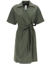 Weekend by Maxmara Austin Wrap Midi Dress - Green