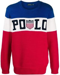 Polo Ralph Lauren Chariots Of Fire Logo Sweater - Red