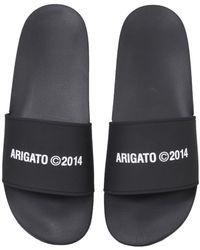 Axel Arigato Rubber Slide Sandals - Black
