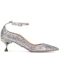Miu Miu Glitter Pointed Court Shoes - Multicolour