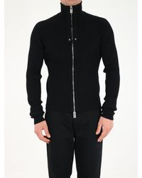1017 ALYX 9SM Ribbed Jumper With Zip - Black