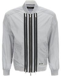 DSquared² Triple Zip Windproof Bomber Jacket - Grey