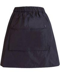 Max Mara Taffeta And Silk Skirt - Blue