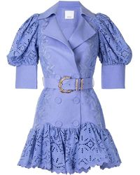 Acler Sierra Anglaise Broderie Dress - Purple