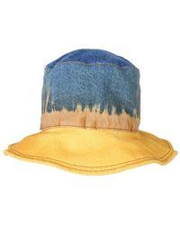 Alberta Ferretti Colour Other Materials Hat - Blue